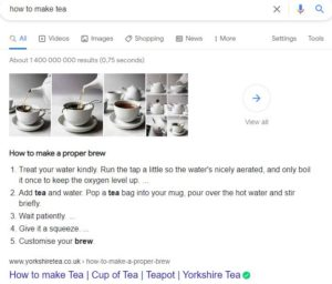 hashtag marketing featured snippets